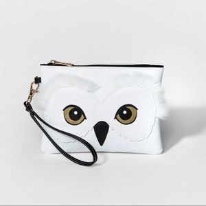 Harry Potter Hedwig Fur Owl Wristlet Purse NWT NEW